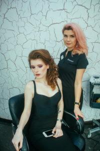 Укладка и макияж